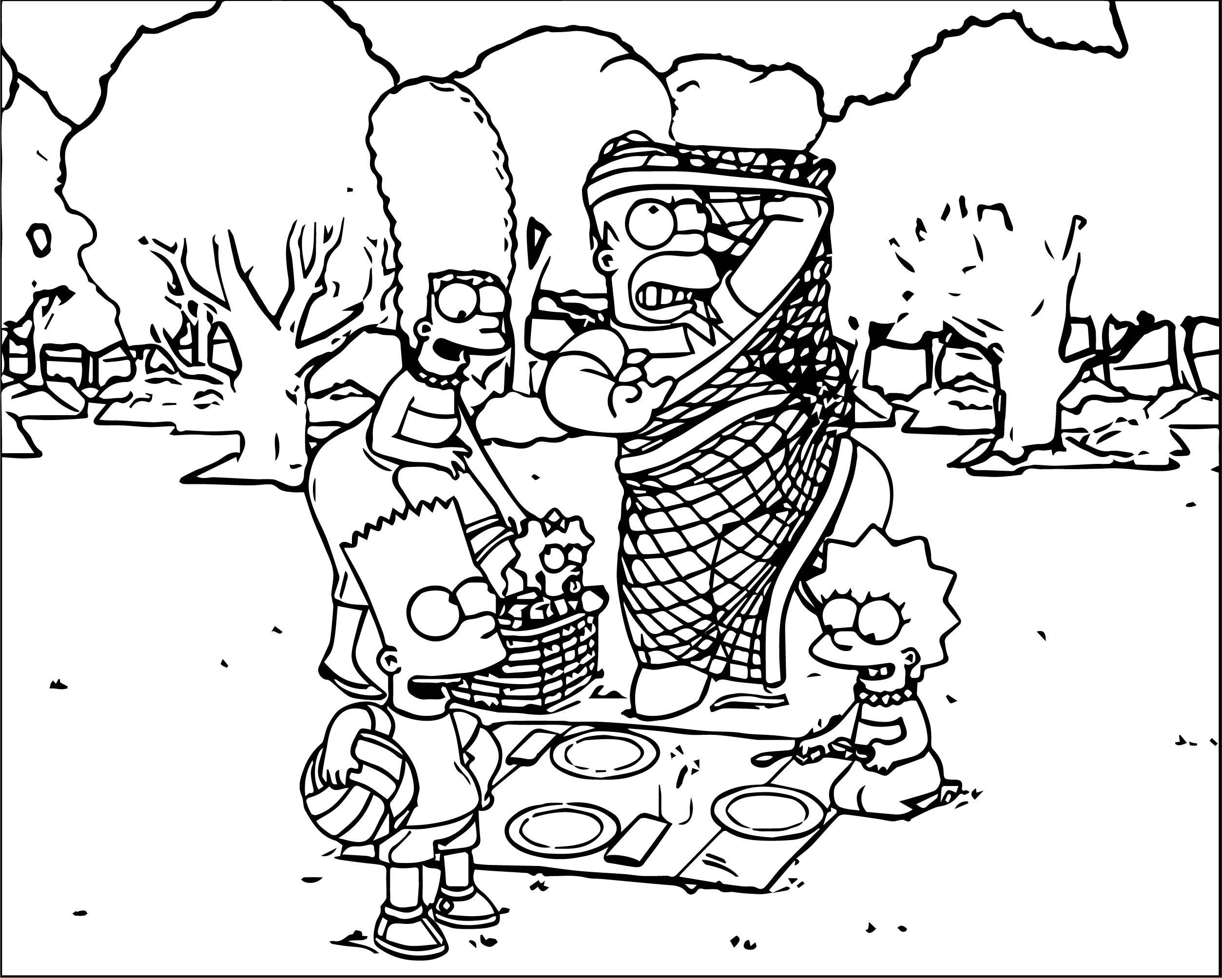 The Simpsons Coloring Page 160