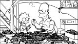 The Simpsons Coloring Page 161