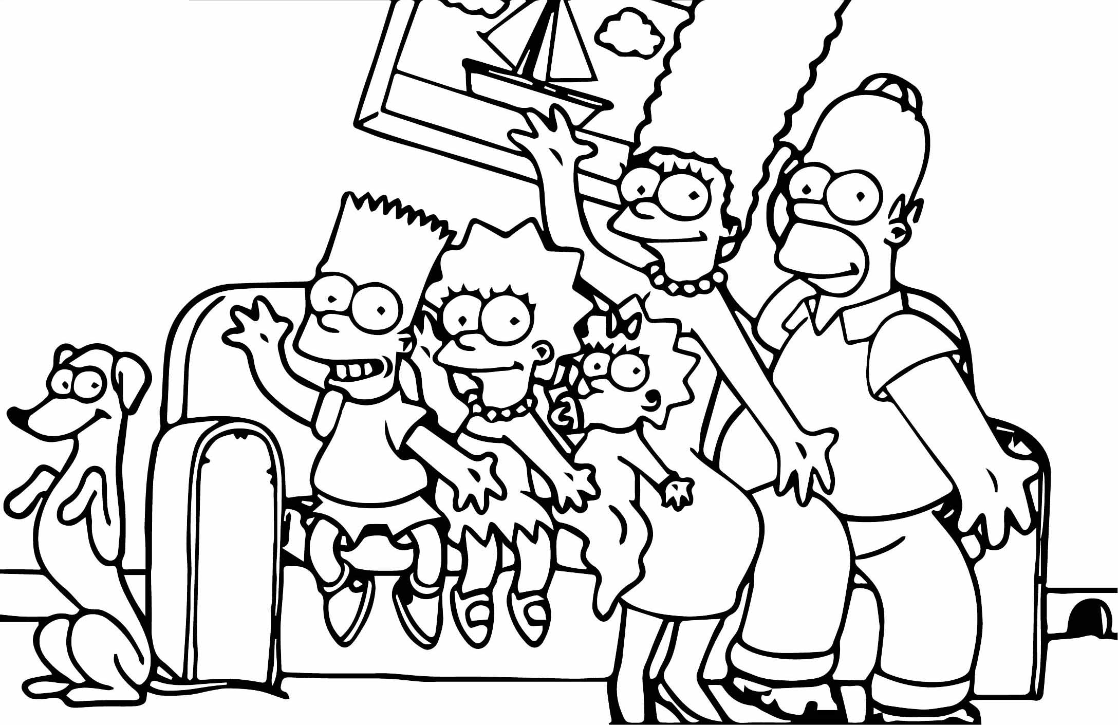 The Simpsons Coloring Page 170   Wecoloringpage.com