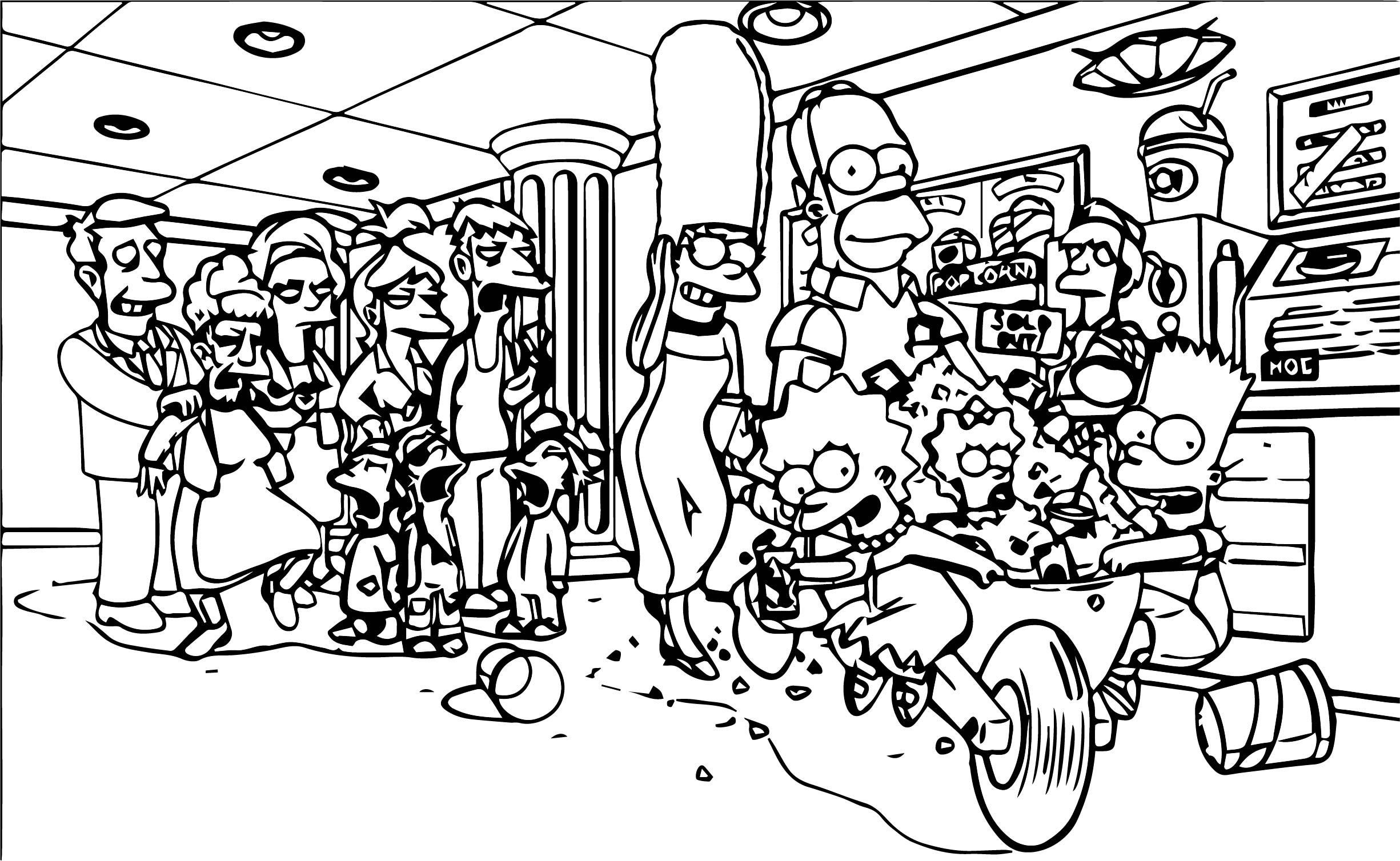 The Simpsons Coloring Page 173