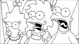 The Simpsons Coloring Page 178