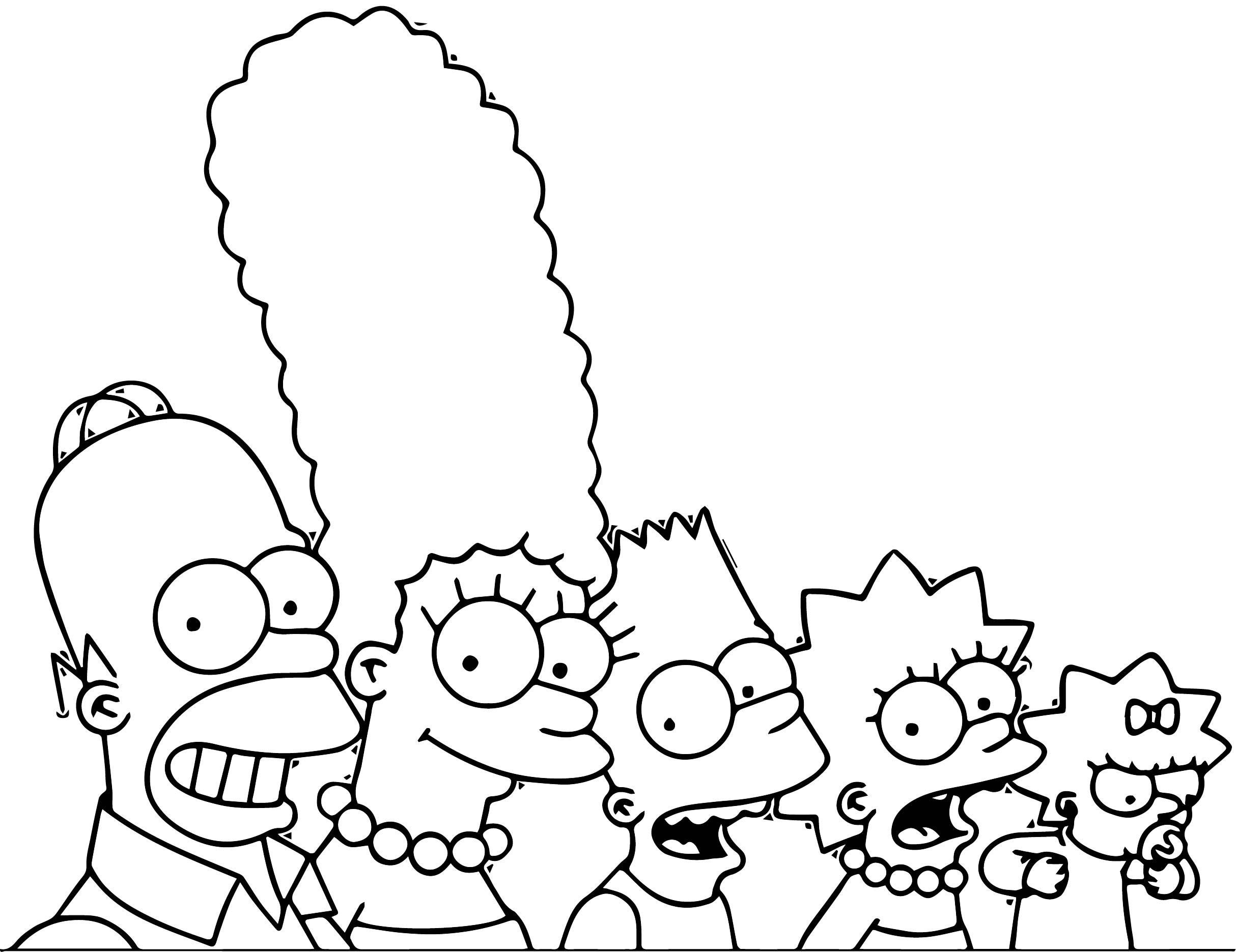 The Simpsons Coloring Page 189
