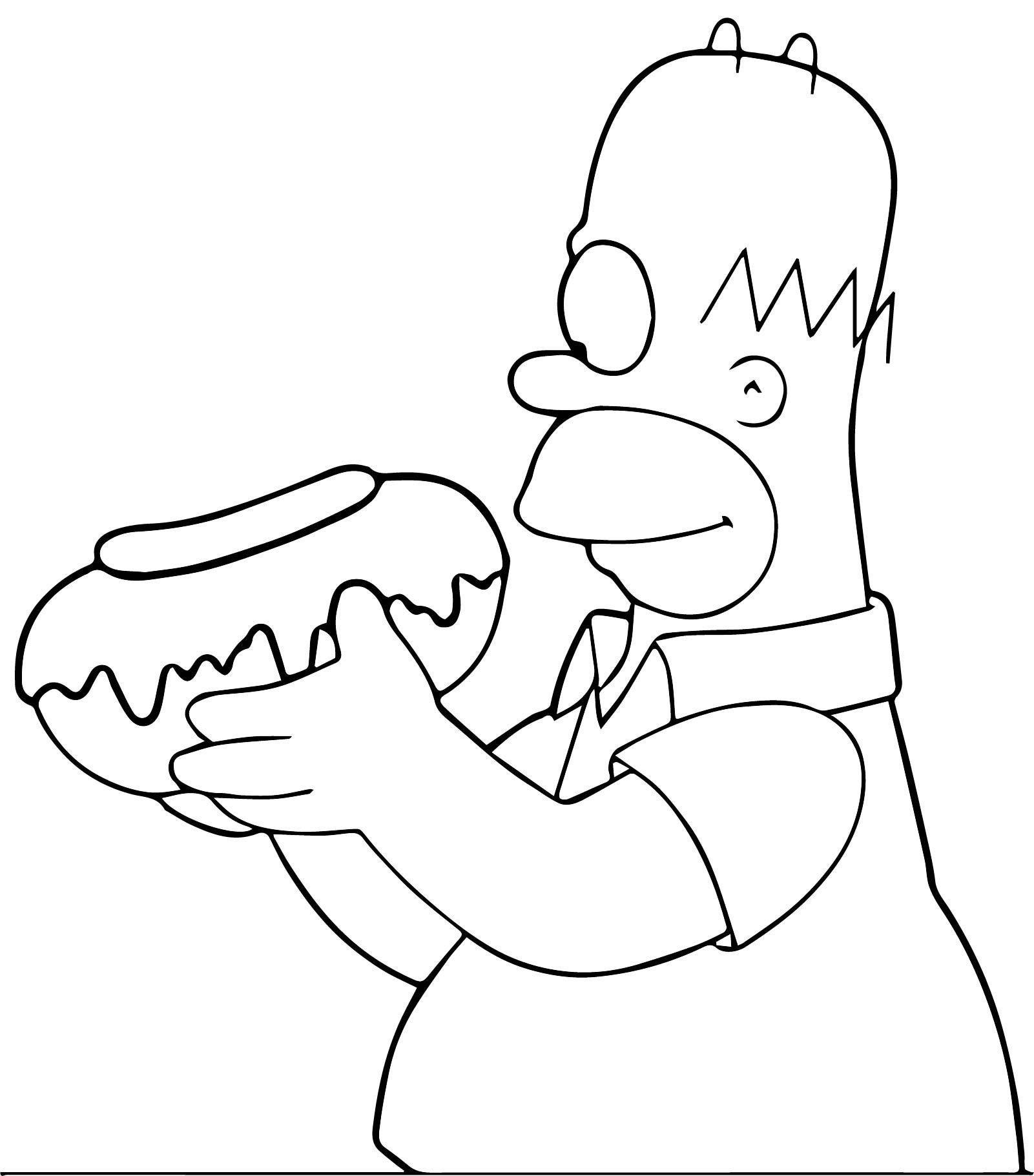 The Simpsons Coloring Page 203
