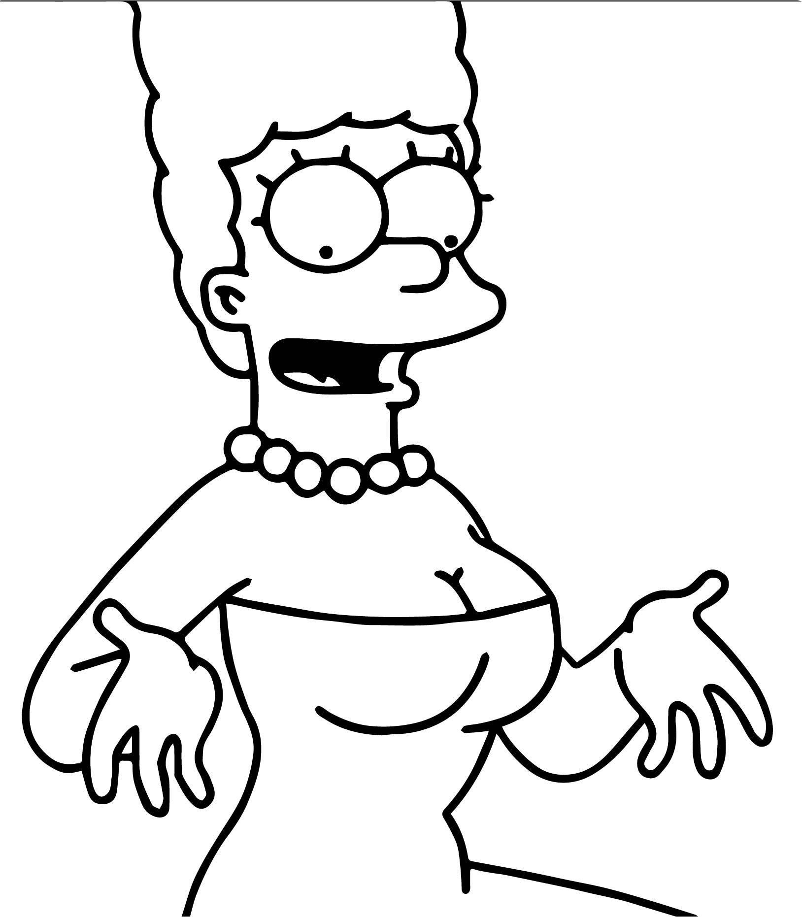 The Simpsons Coloring Page 209