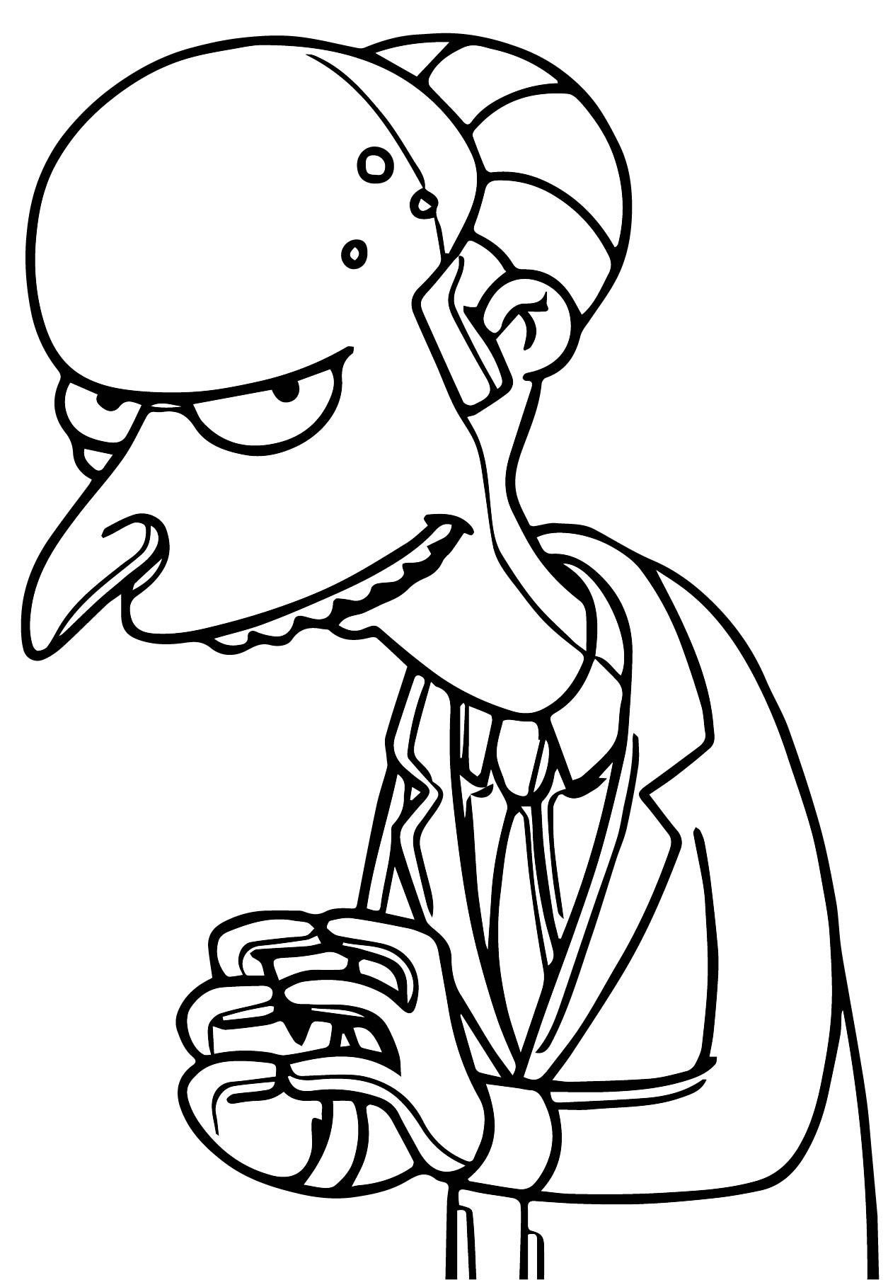 The Simpsons Coloring Page 219