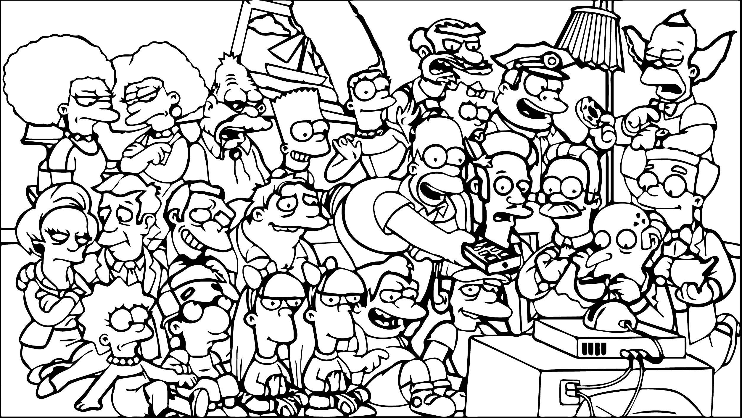 The Simpsons Coloring Page 221