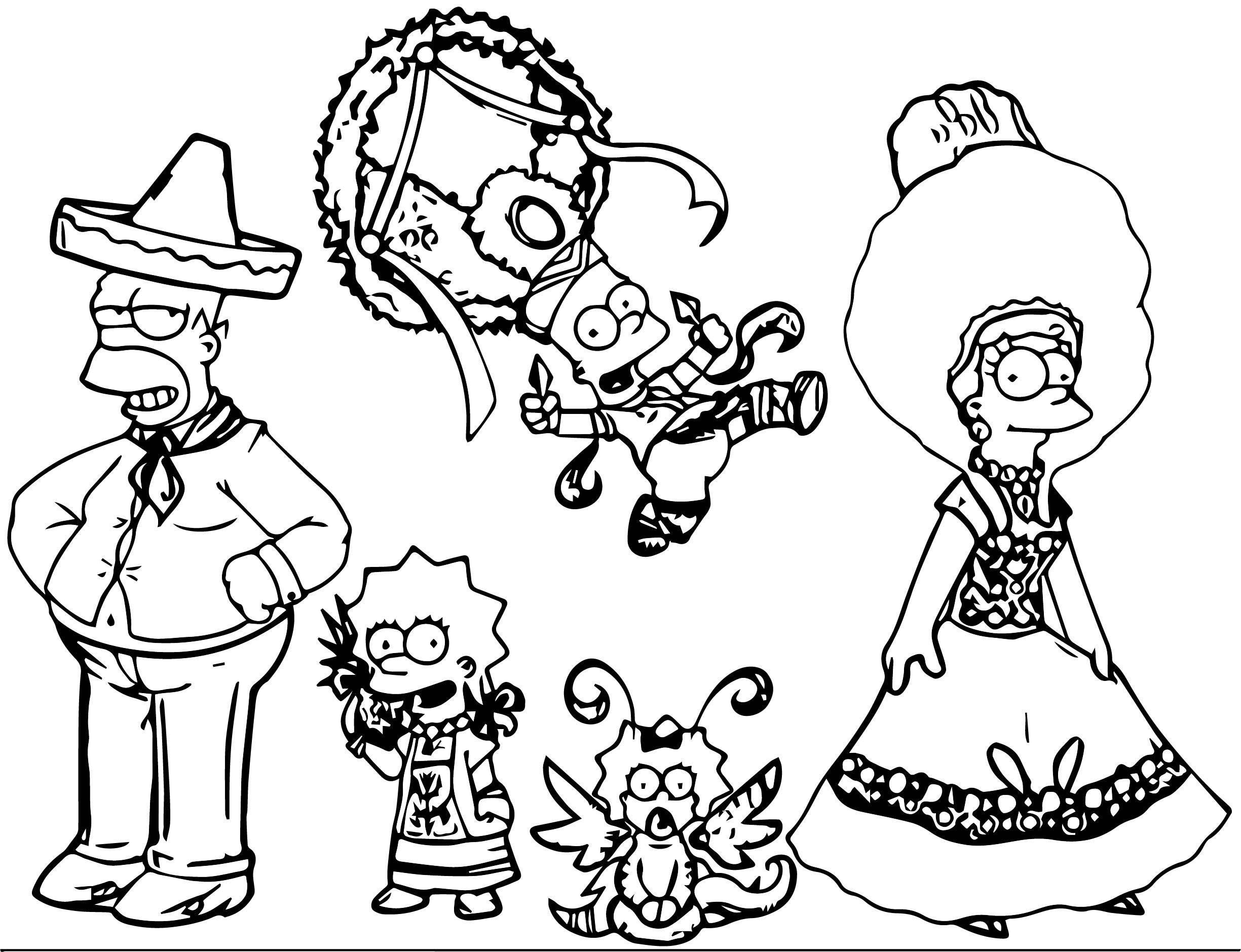 The Simpsons Coloring Page 223
