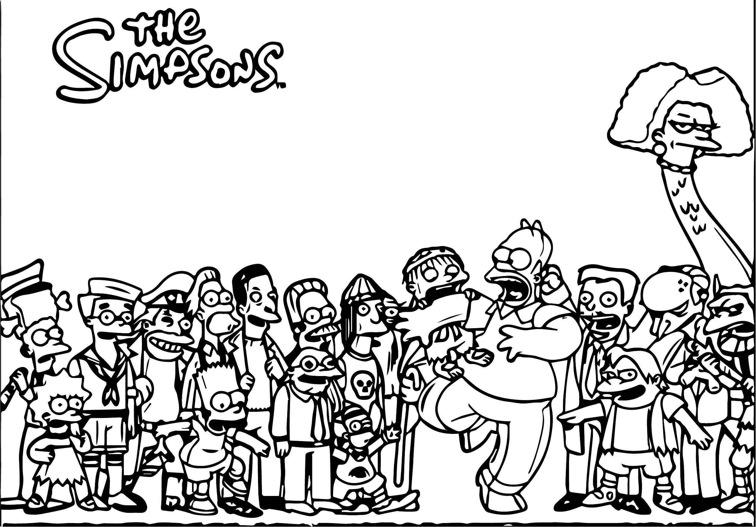 The Simpsons Coloring Page 224