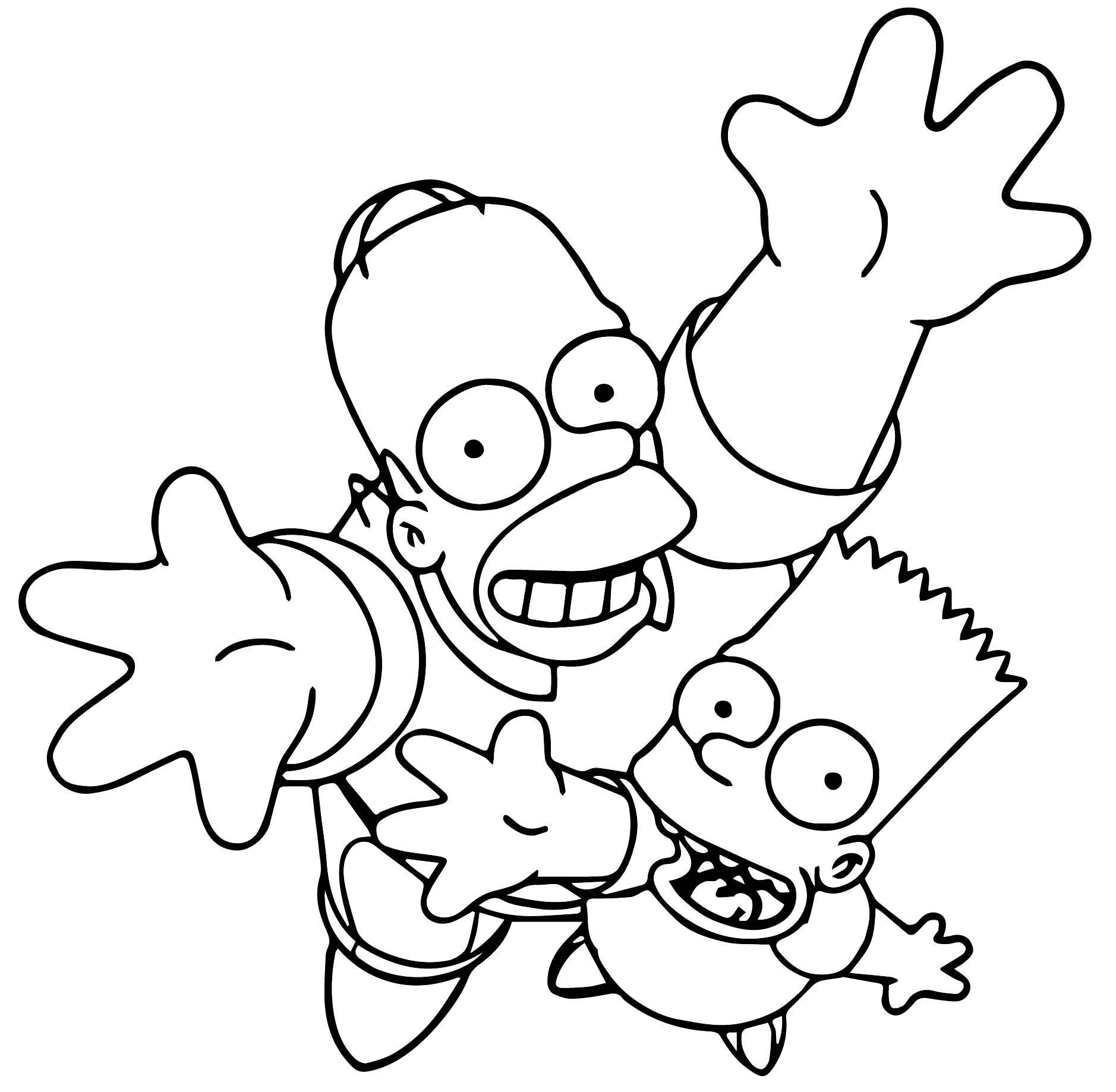 The Simpsons Coloring Page 229