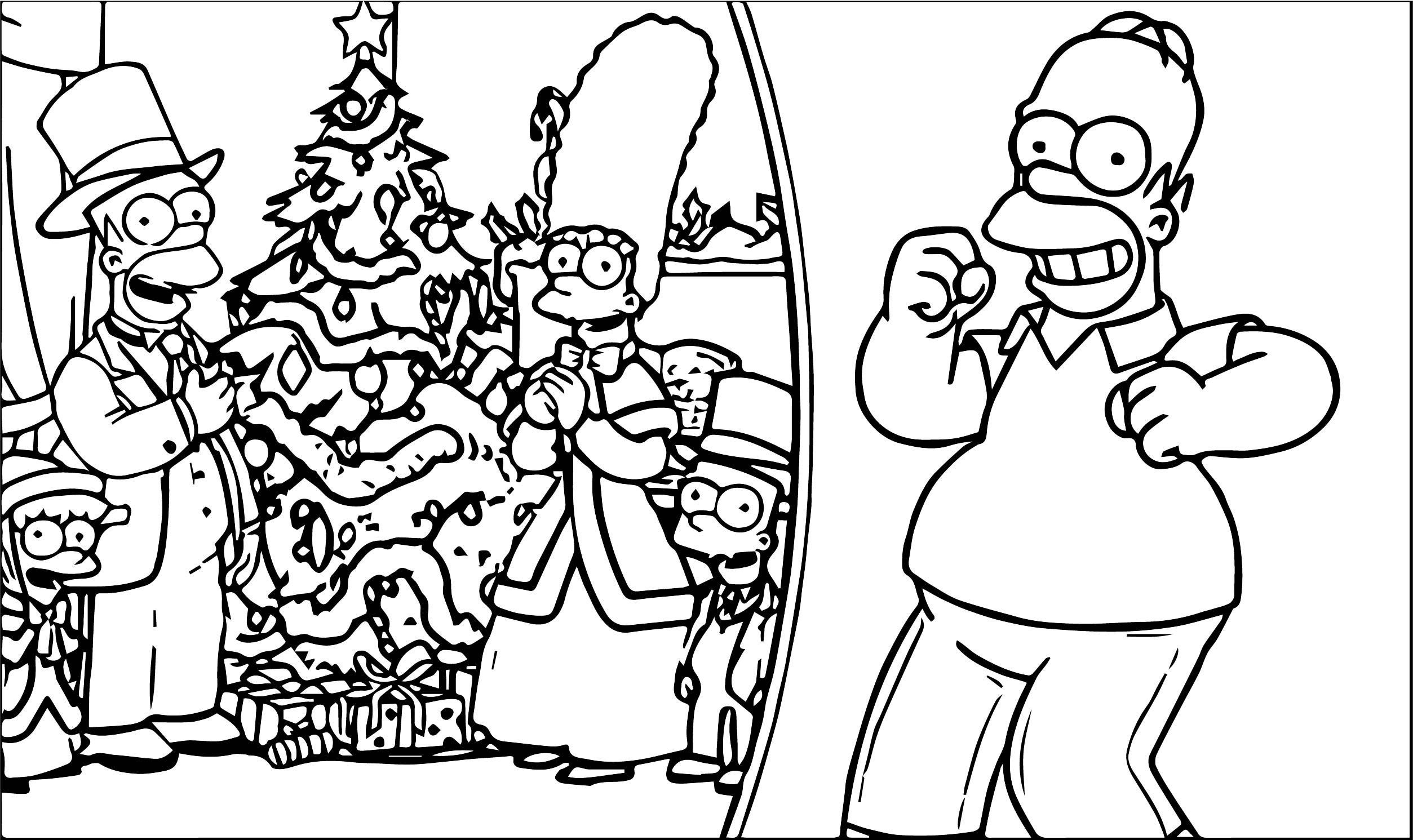 The Simpsons Coloring Page 233