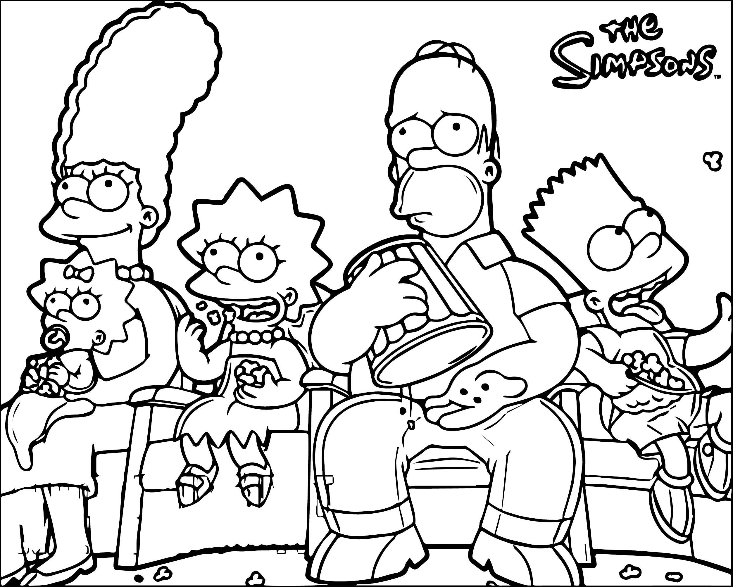 The Simpsons Coloring Page 234