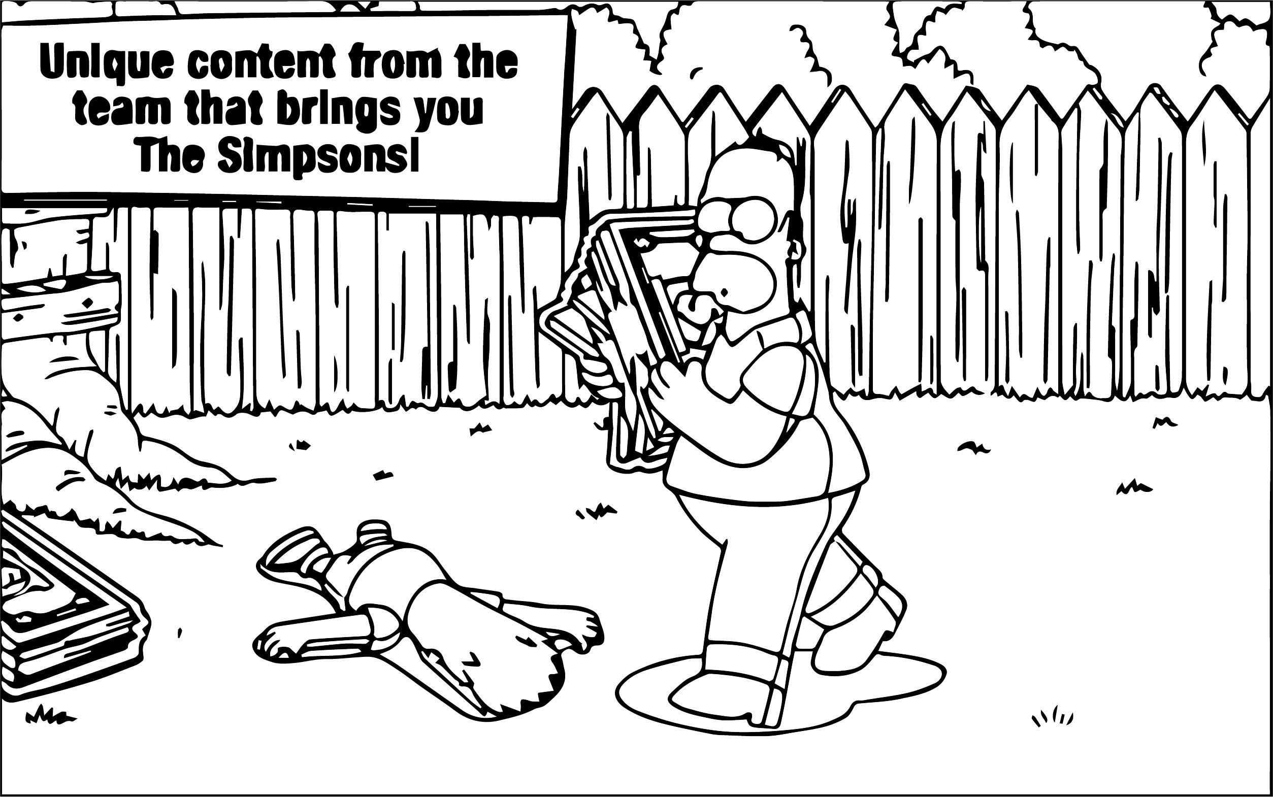 The Simpsons Coloring Page 239