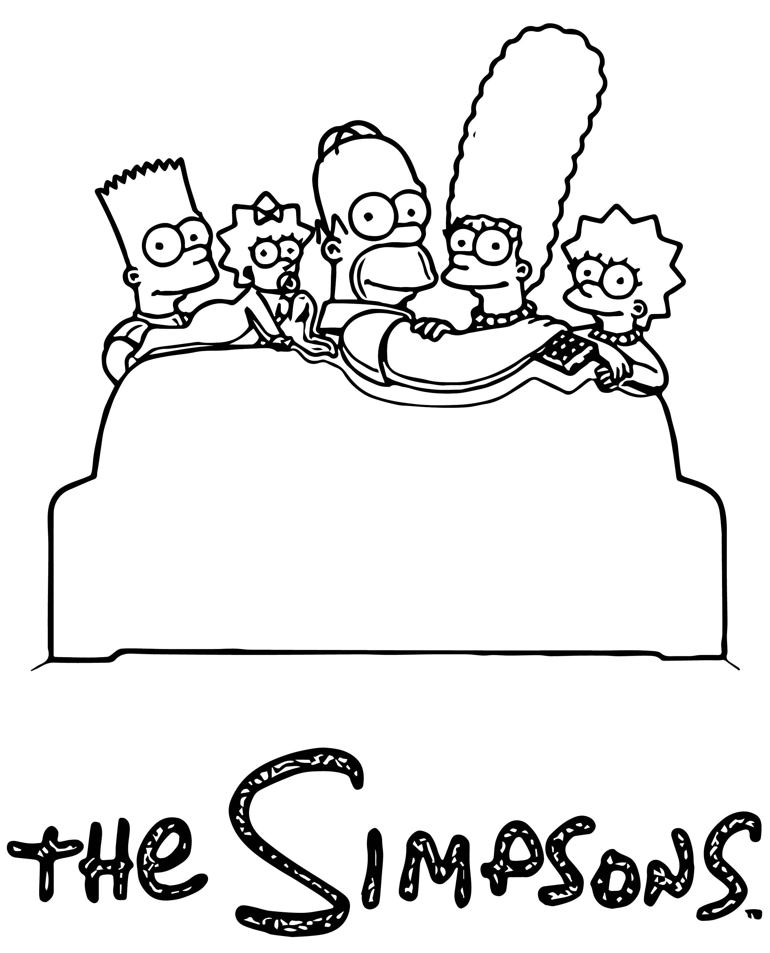 The Simpsons Coloring Page 242