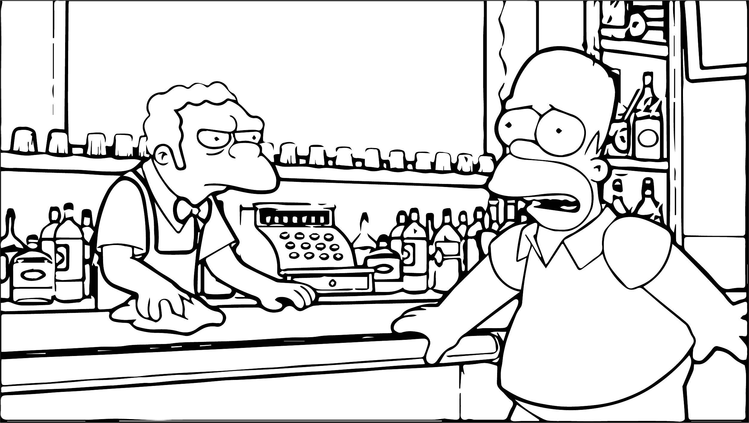The Simpsons Coloring Page wecoloringage