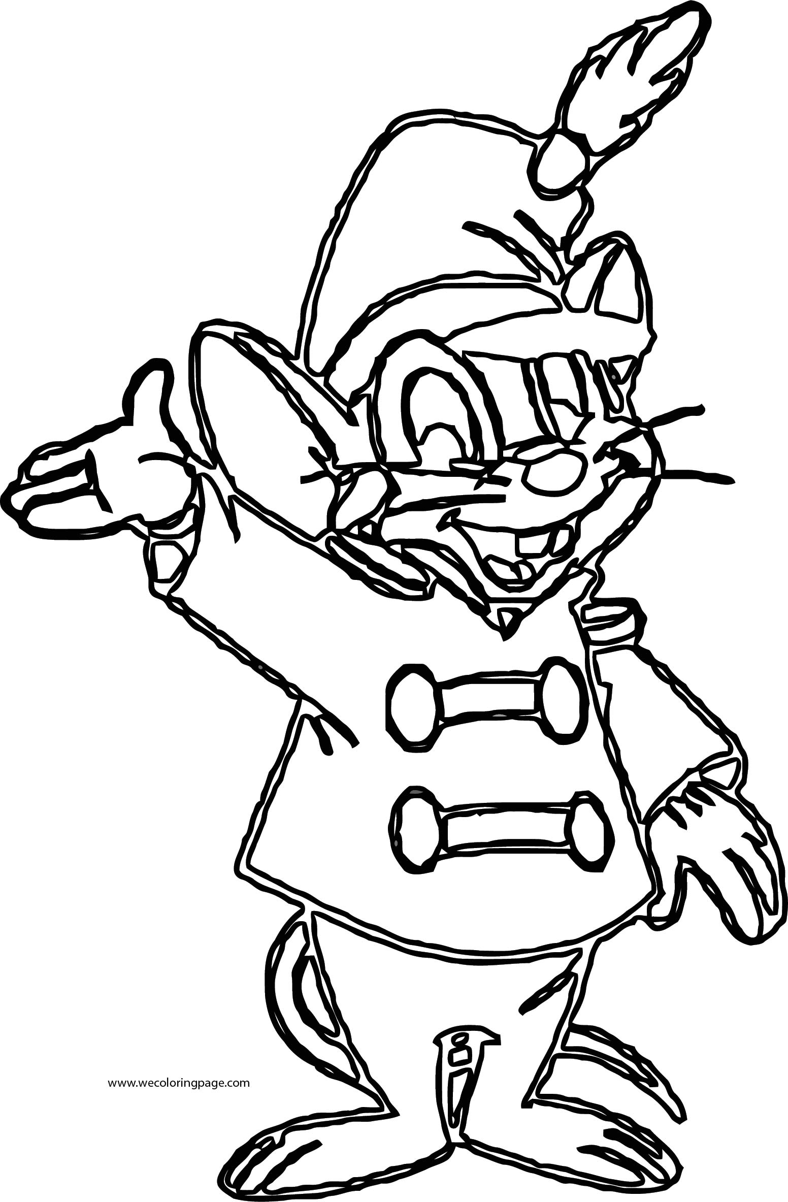 Timmy Mouse Coloring Page