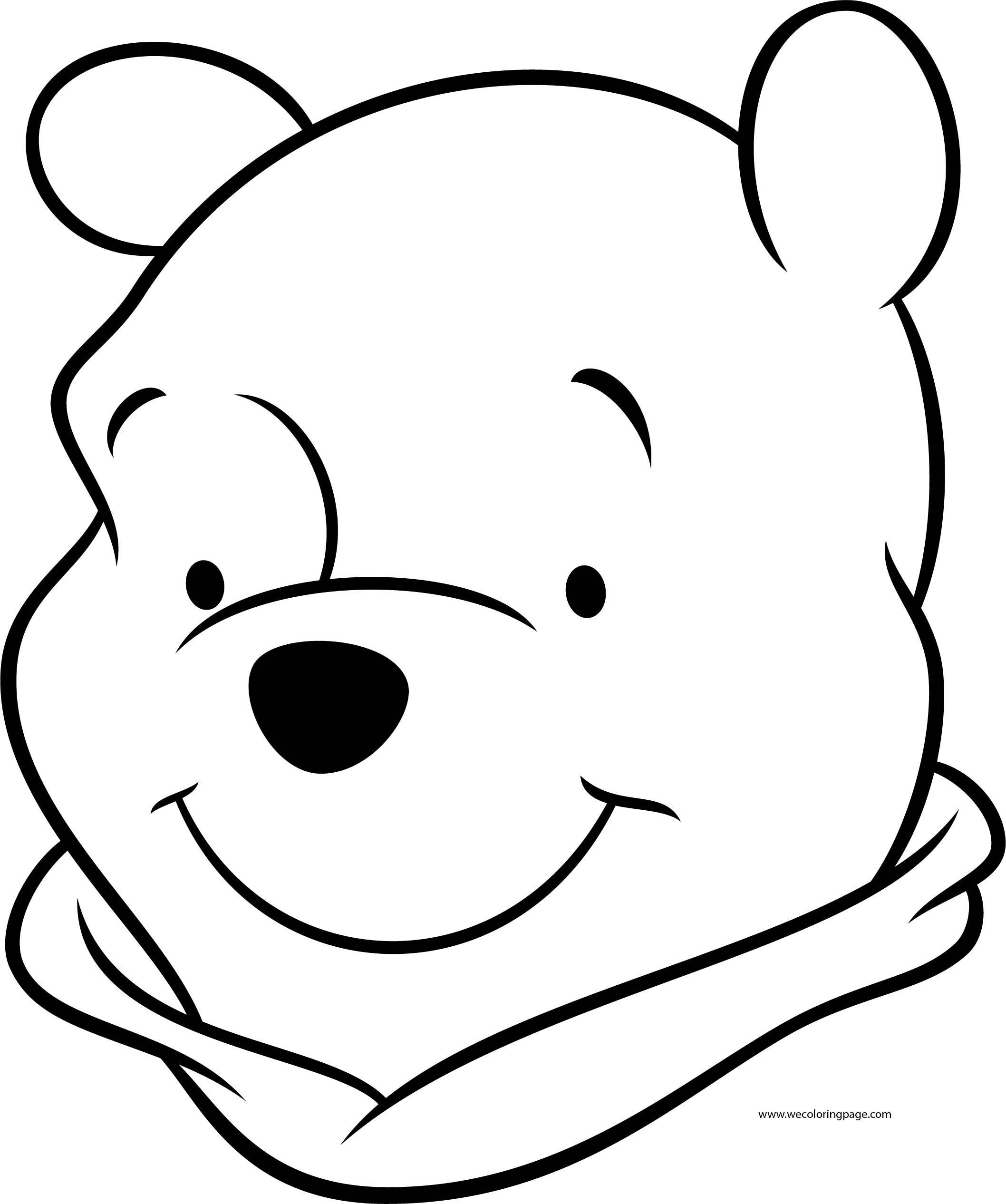Winnie The Pooh Big Face Coloring Page