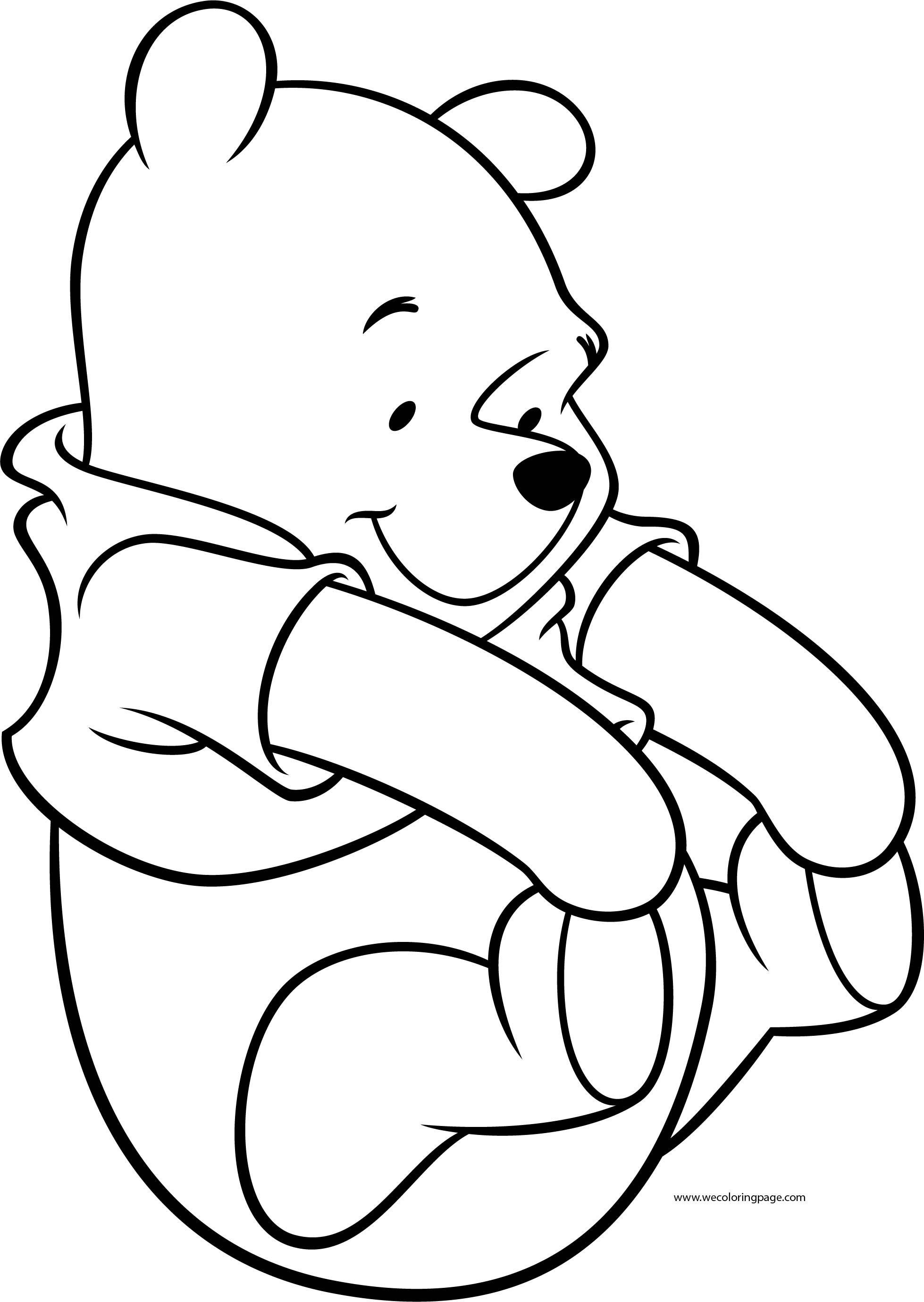 Winnie The Pooh Catch My Foot Coloring Page