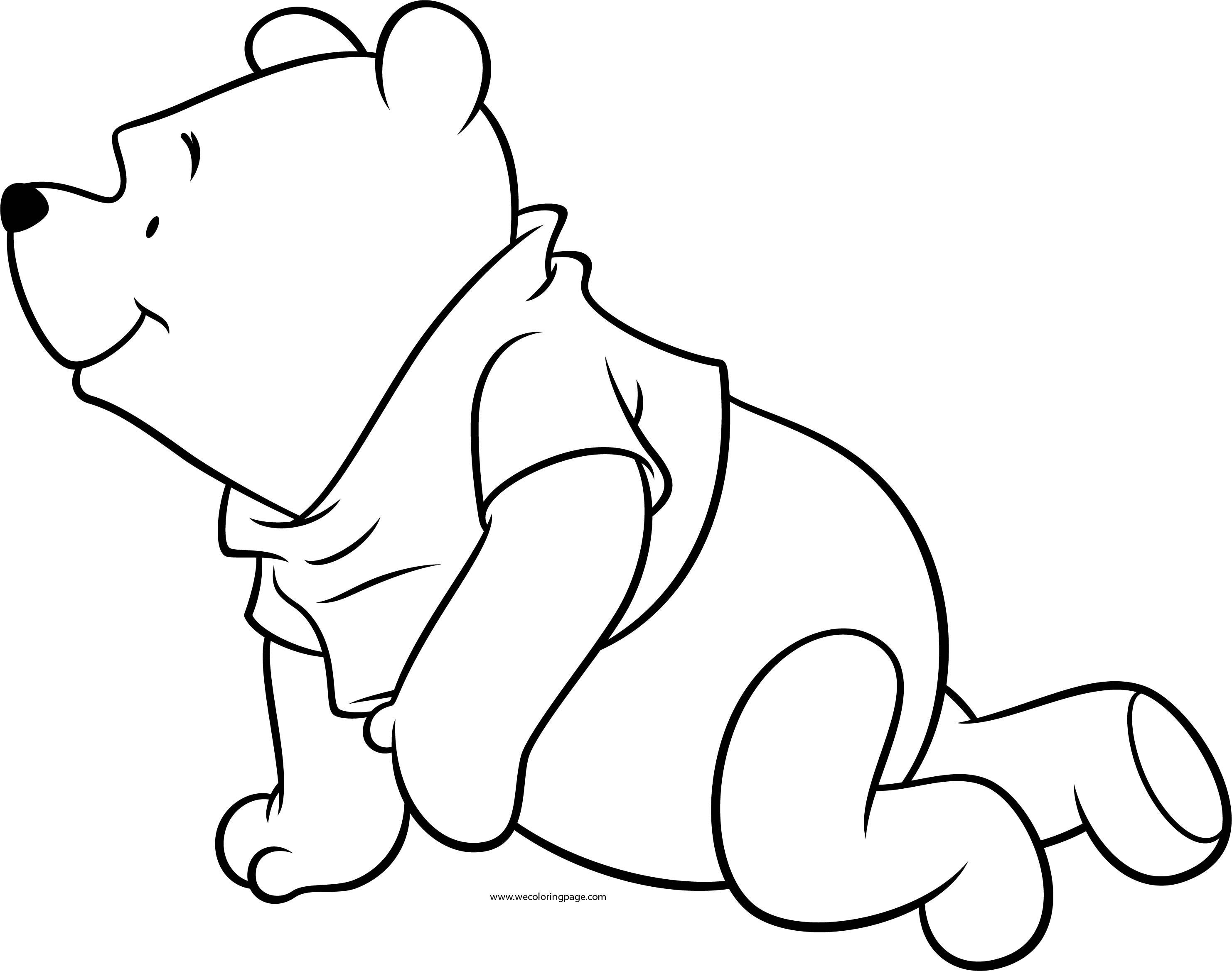 Winnie The Pooh Crawling Coloring Page
