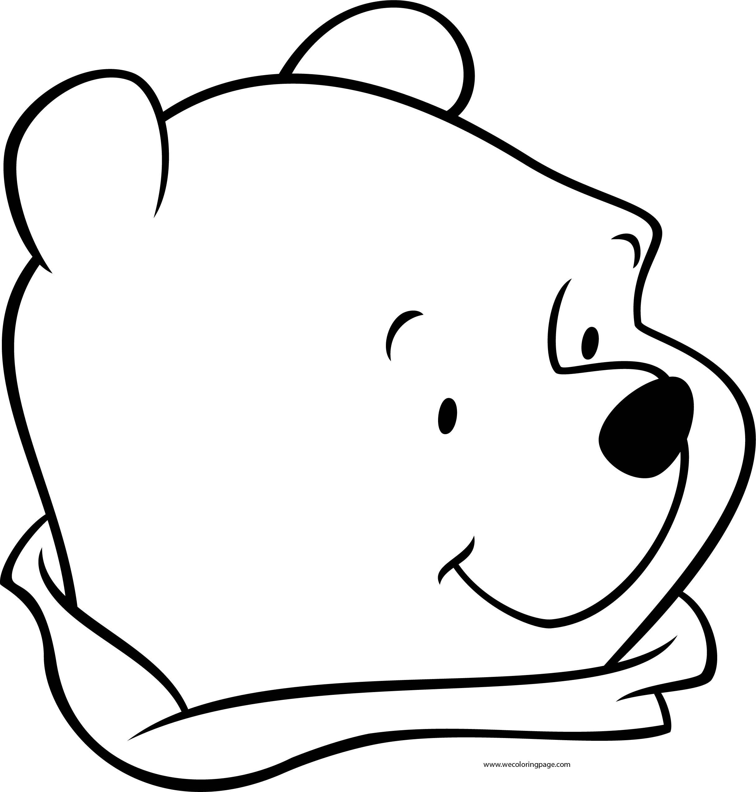 Winnie The Pooh Cute Face Look Coloring Page