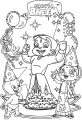 Wooden Cut Outs Happy Birthday Chhota Bheem Original Image Coloring Page
