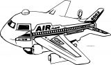 Air Plane We Coloring Page