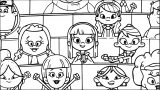Amy And Friends School Coloring Page