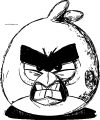 Angry Bird Sketch Coloring Page