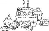 Angry Birds Birthday Picture Coloring Page