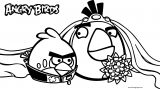 Angry Birds Wedding Coloring Page
