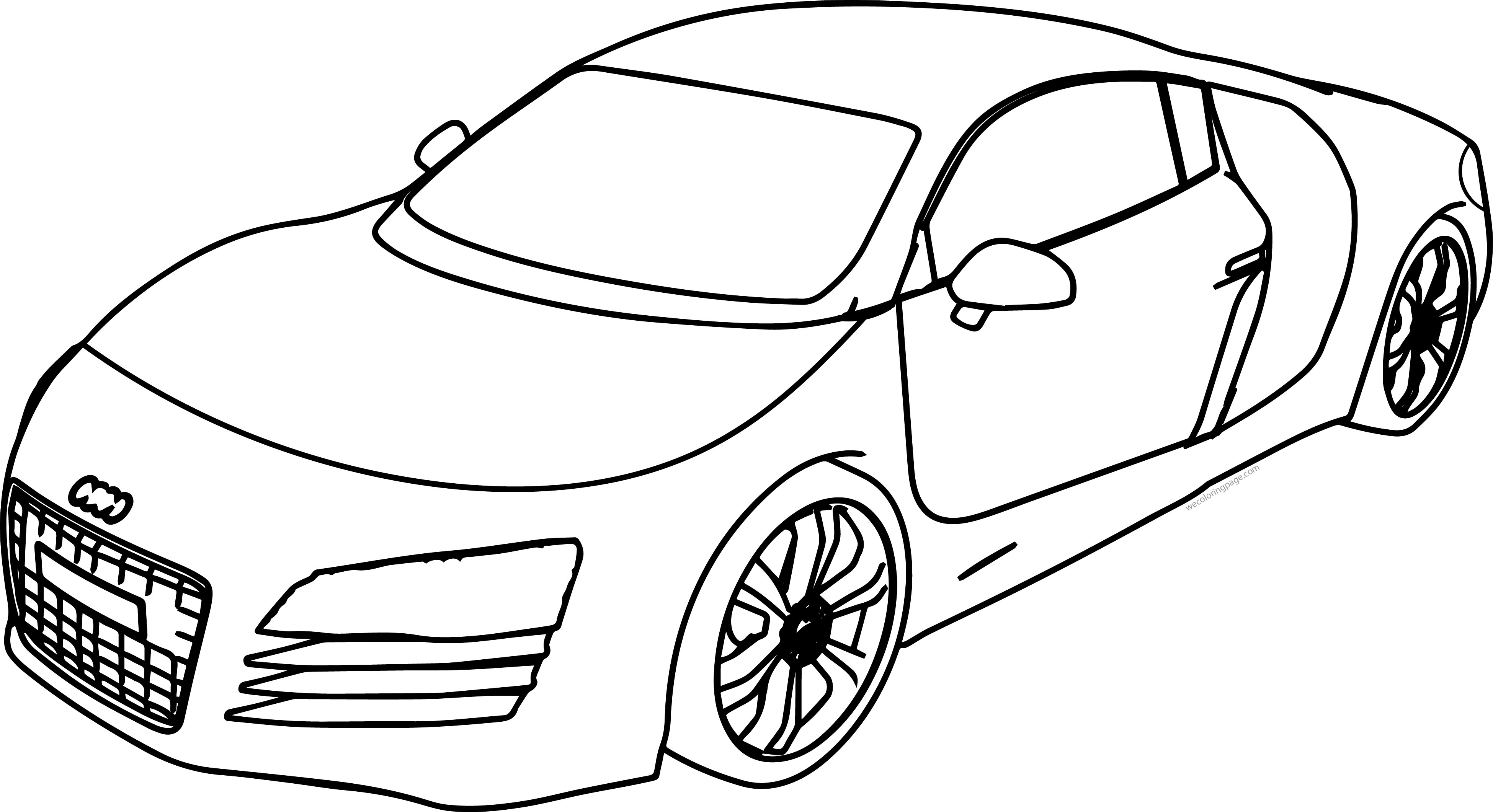 bold line coloring pages | Audi R8 Bold Line Coloring Page | Wecoloringpage.com