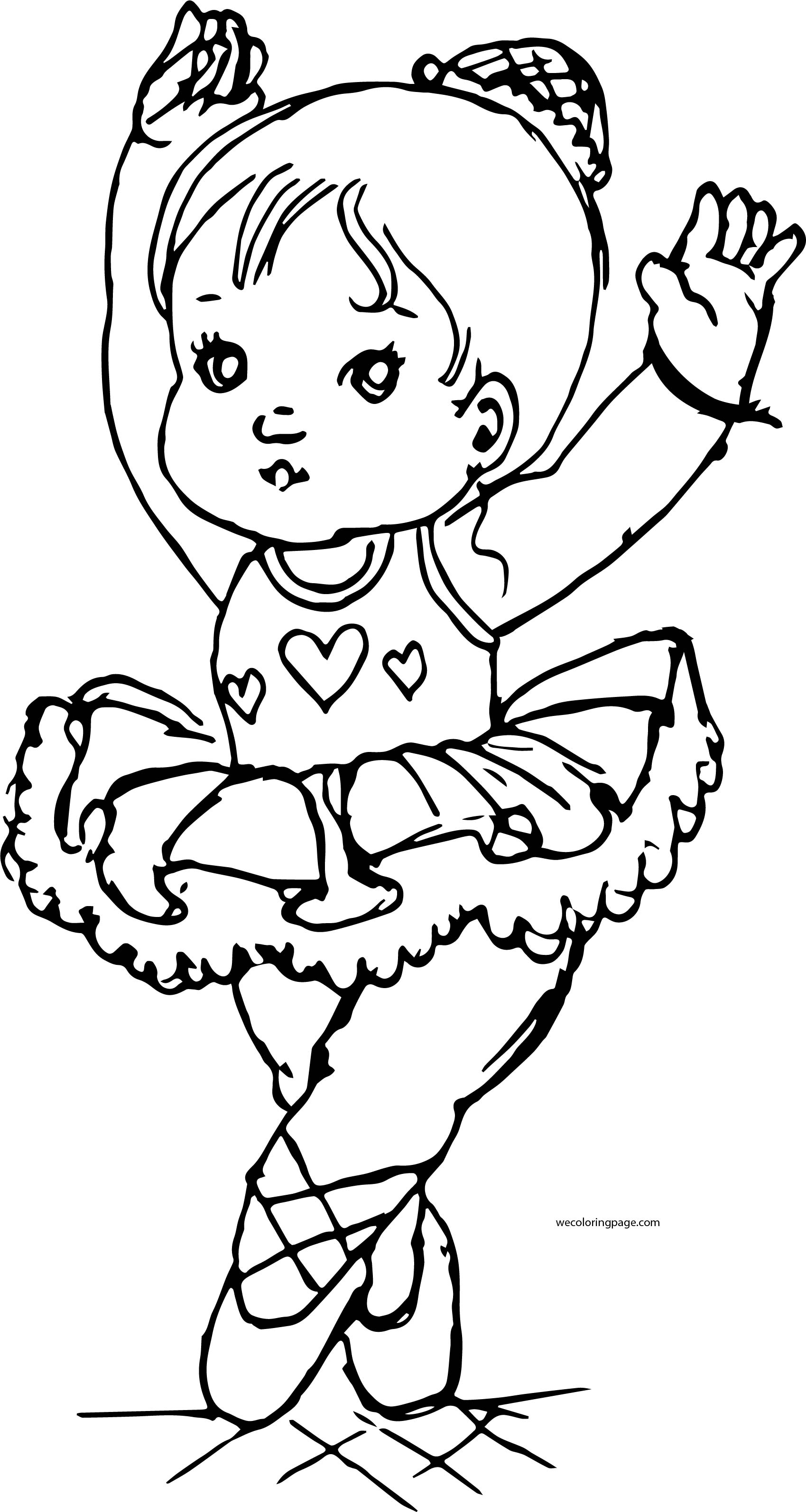 Ballet Kids Girl Coloring Page