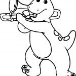Barney And Friends Trumpet Coloring Page