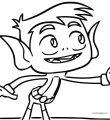 Beast Boy Teen Titans Go Hi Coloring Page