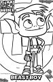Beastboy Profile Card Coloring Page