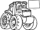 Big John Johnny Deere Tractor Coloring Page
