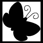 Black Butterfly Frame Coloring Page