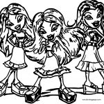 Bratz Coloring Page WeColoringPage Girls