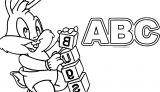 Bugs Bunny Cube Abc Coloring Page