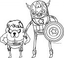 Captain Coloring Page Cartoon