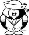Captain Penguin Coloring Page