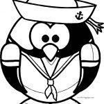 Captain Penguin Coloring Page