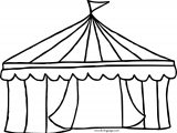 Circus Coloring Page Tent