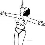 Circus Girl Balance Coloring Page