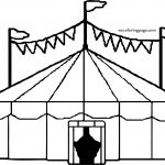 Circus Tent Coloring Page Entertainment