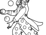 Clown Ball Coloring Page 2