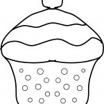 Cupcake Draw Style Coloring Page