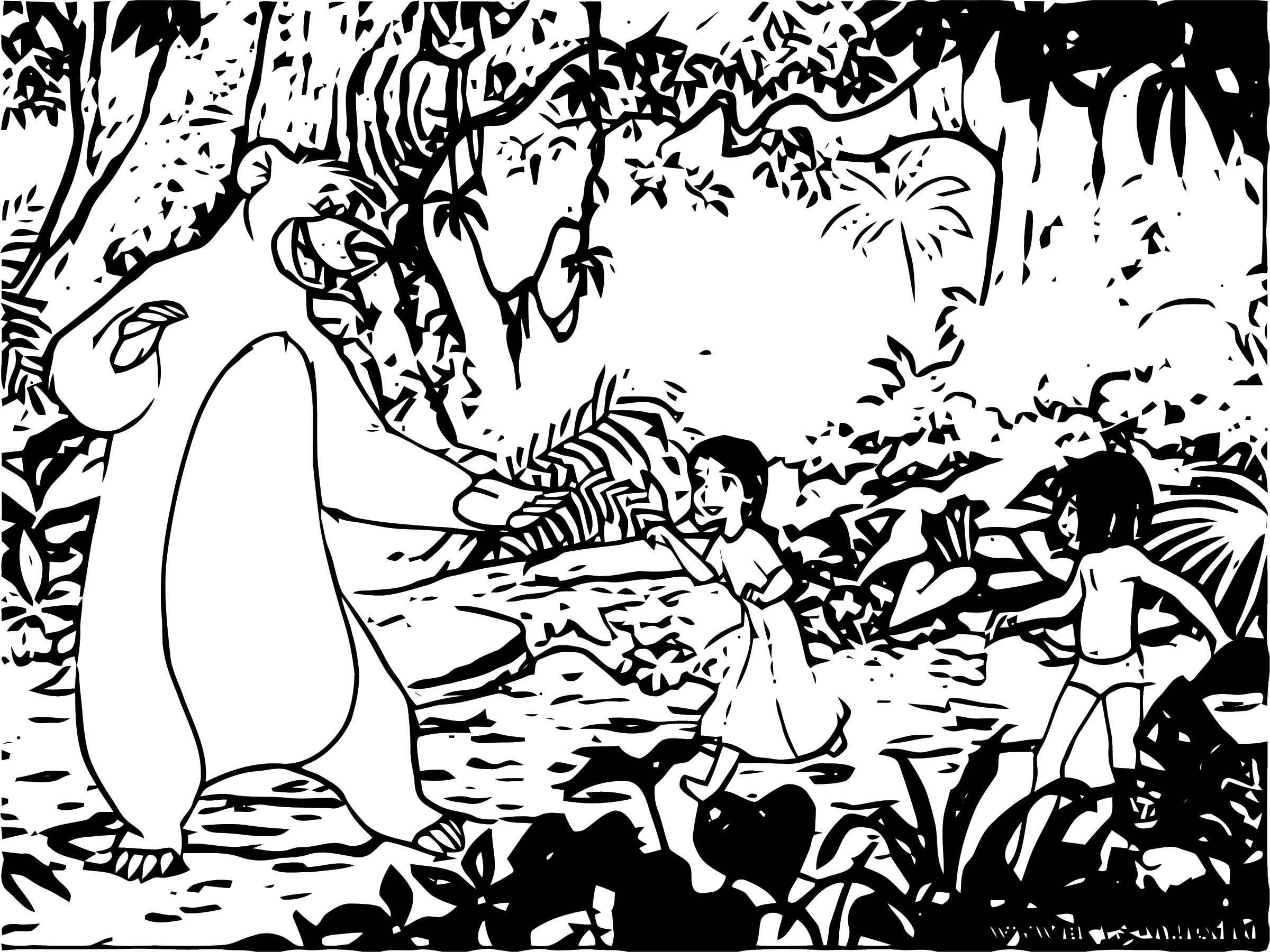 Disney Jungle Book Coloring Page 39