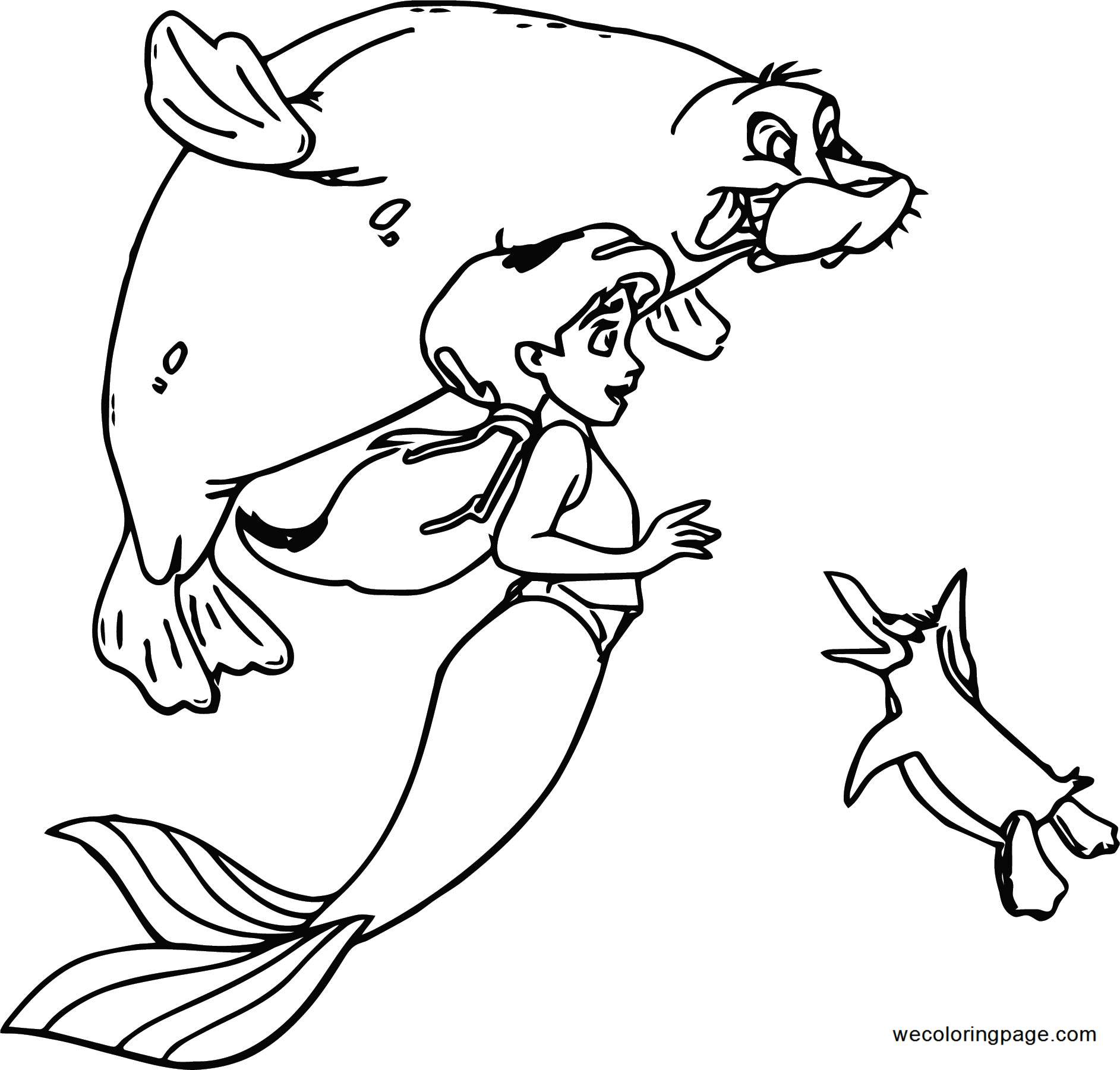 Disney The Little Mermaid 2 Return to the Sea Coloring Page 25