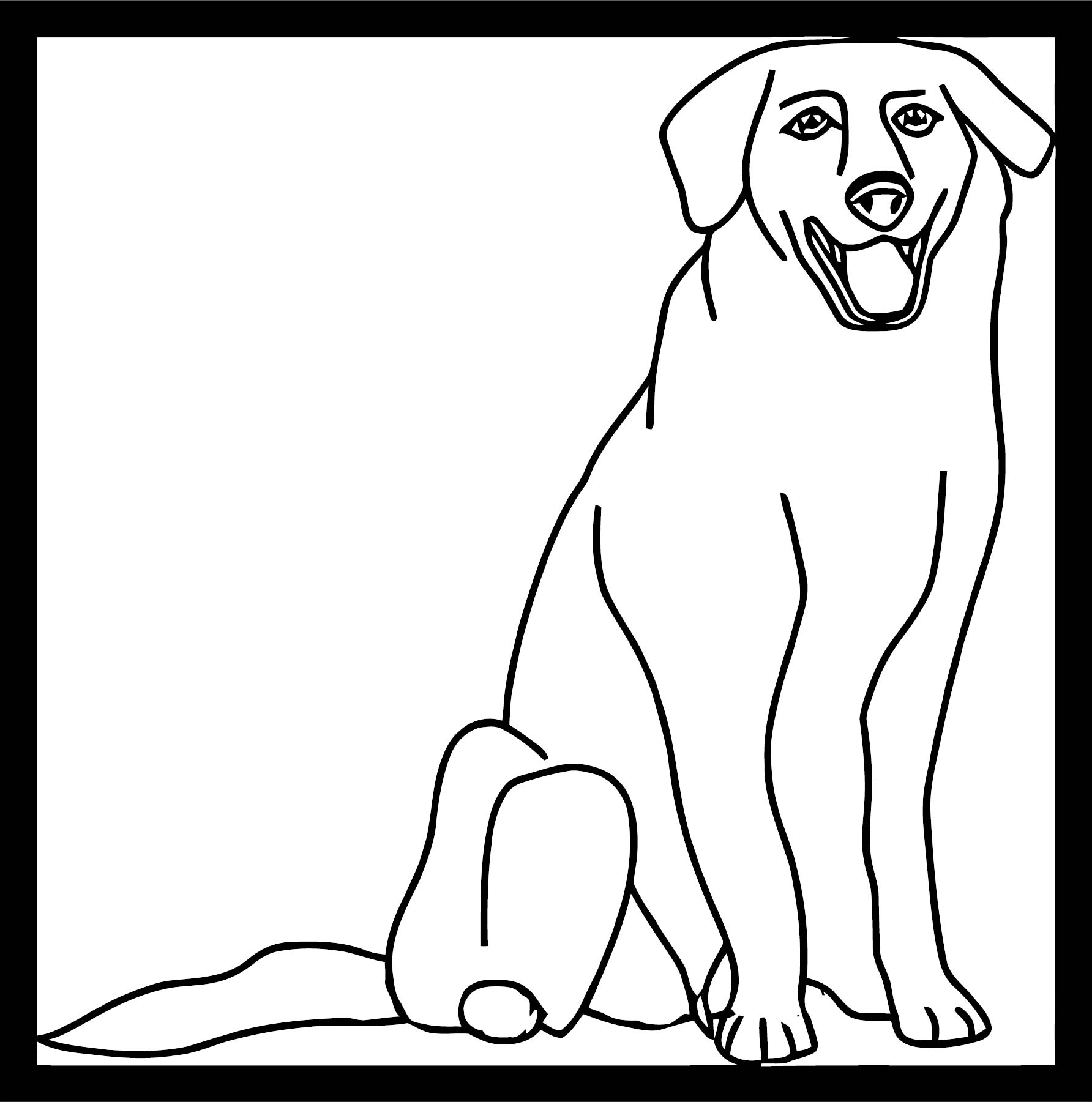 Dog Coloring Pages 072