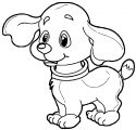 Dog Coloring Pages 076